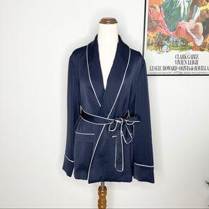 Witchery Satin Tie Waist Blazer Robe